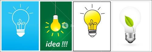 Idea Bulb Vectors