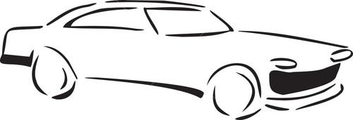 Illustration Of 1960's Car.