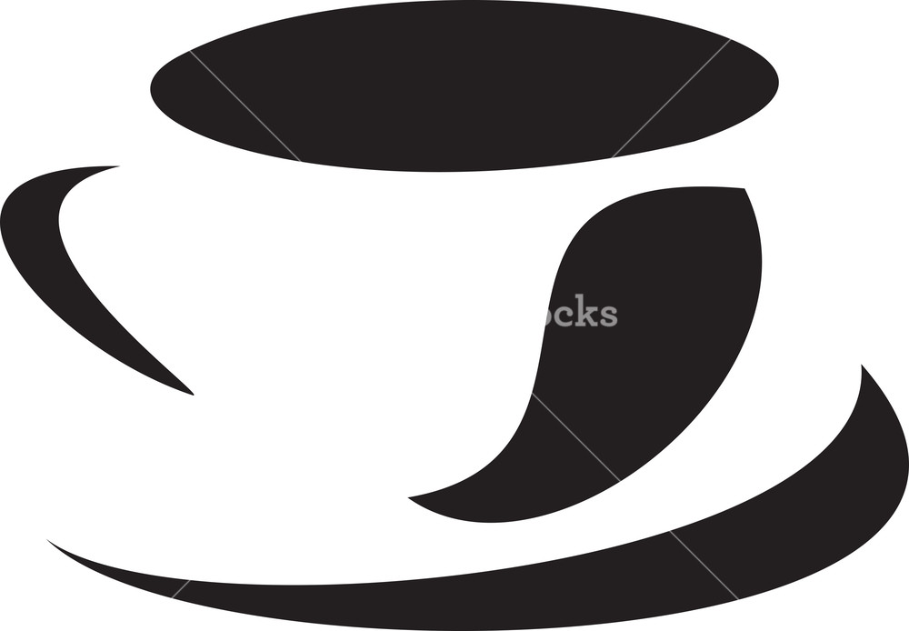 Illustration Of A Cup With Plate.