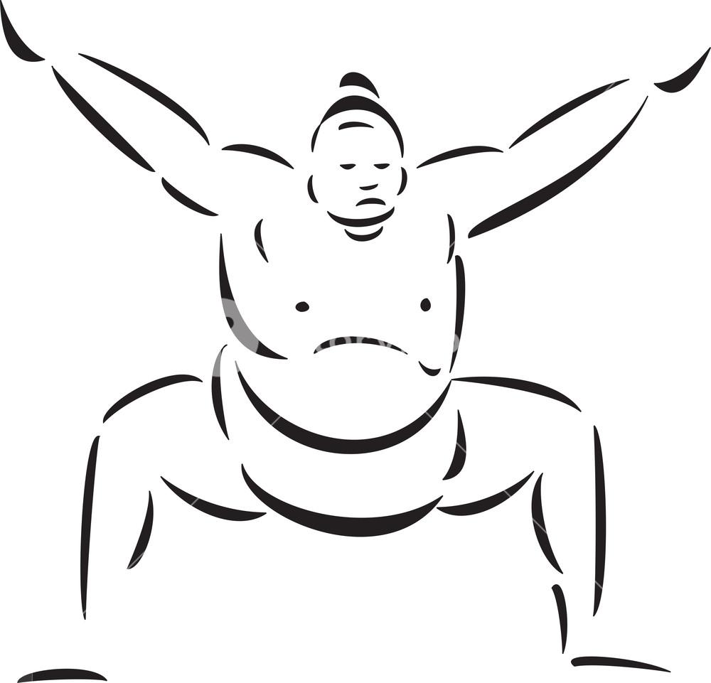 Illustration Of A Huge Man.