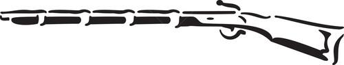Illustration Of A Rifle.