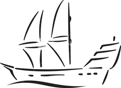 Illustration Of A Ship.