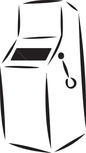 Illustration Of A Slot Machine Of Casino.