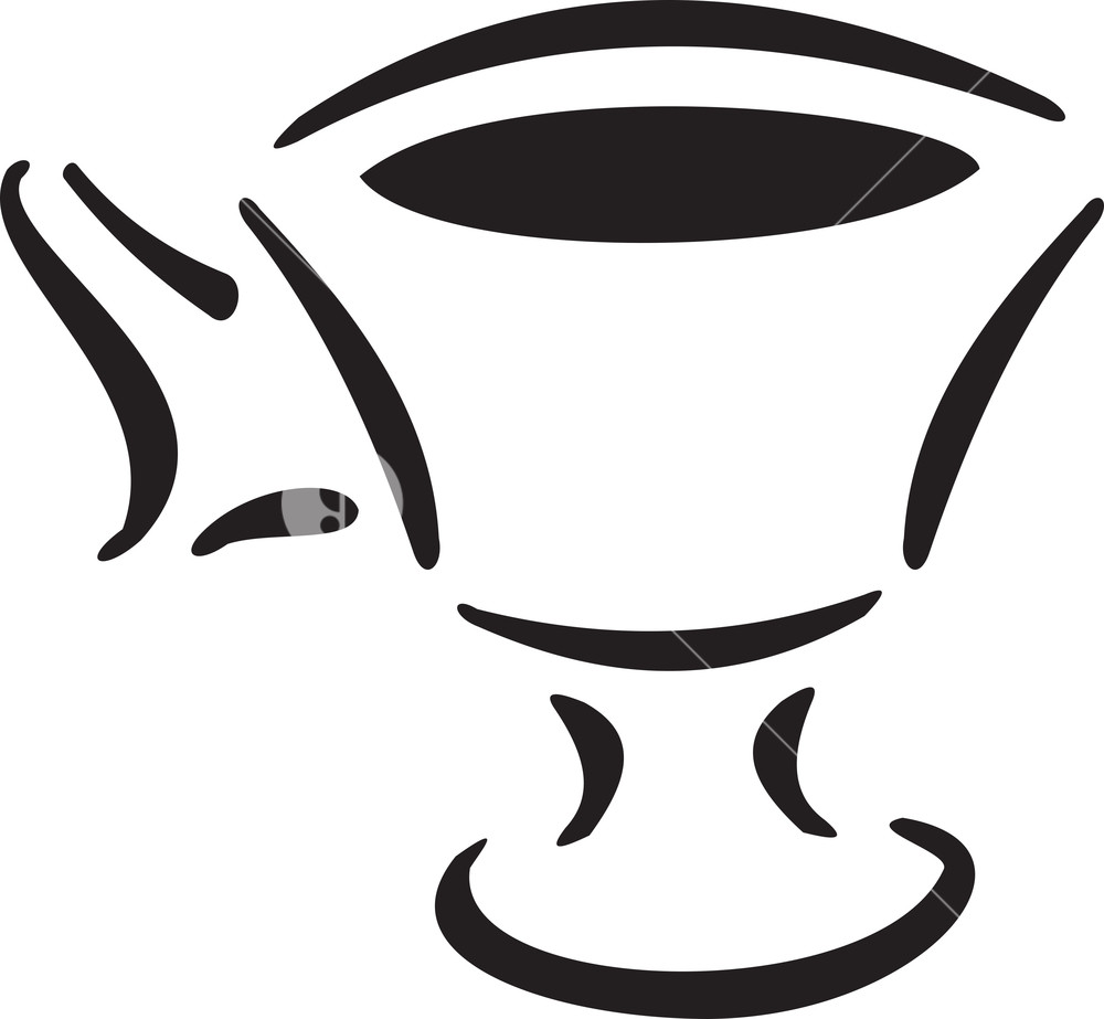 Illustration Of A Stylish Cup.