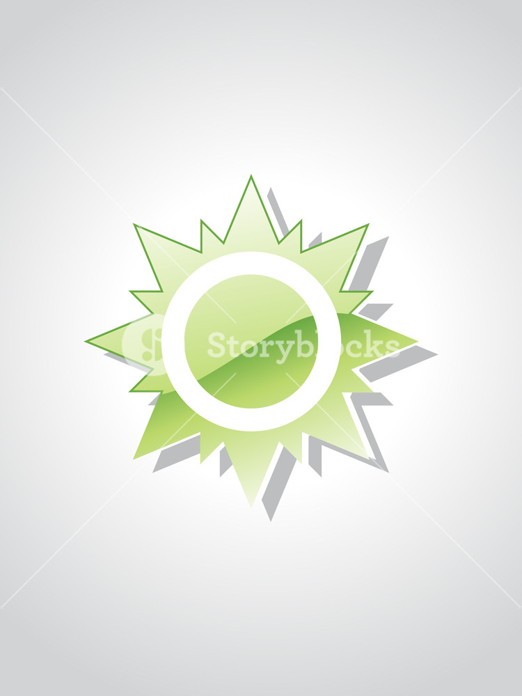 Illustration Of Isolated Green Object