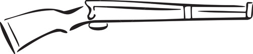 Illustration Of The Rifle Of Wwi.
