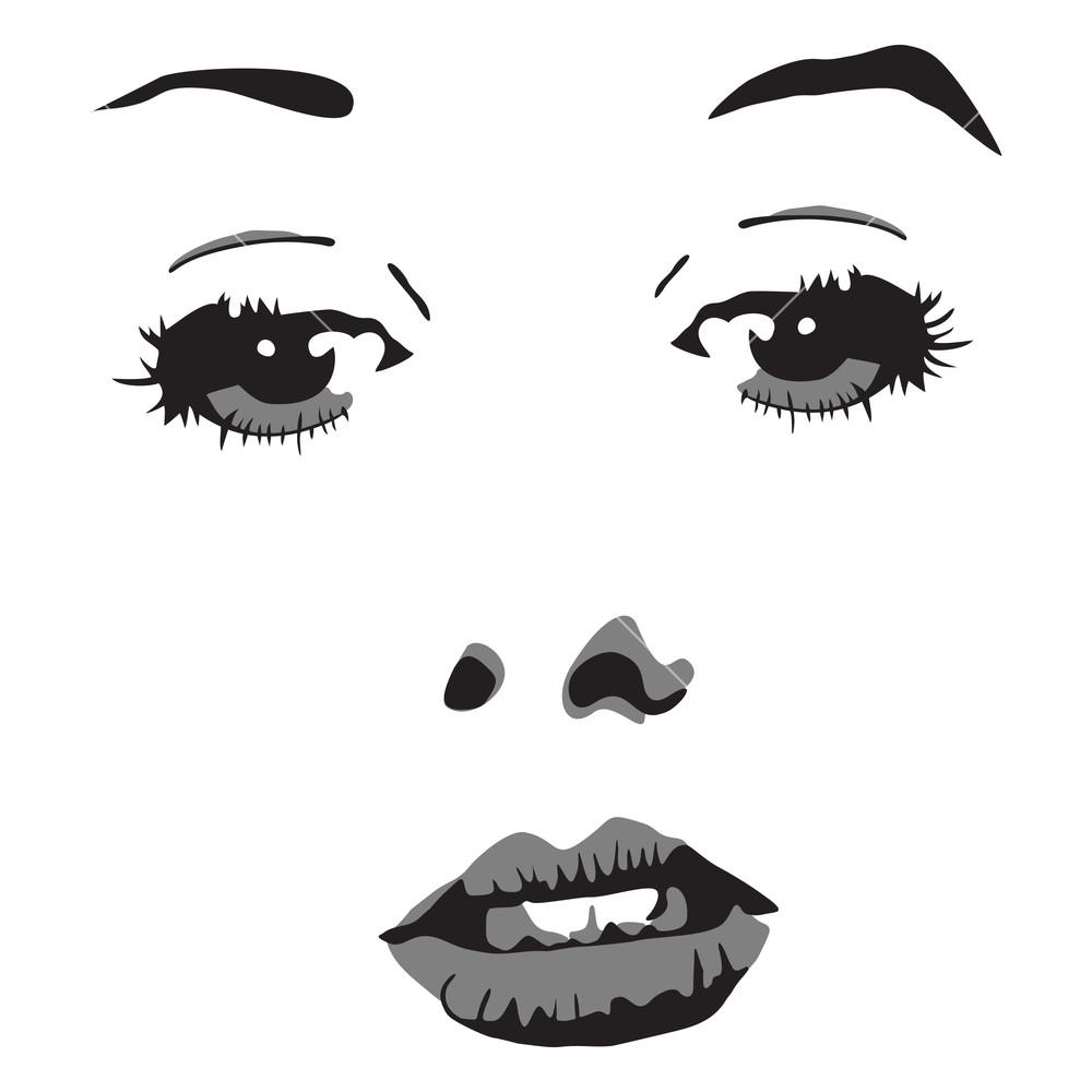 Illustration Of Woman Portrait