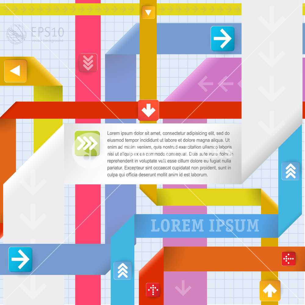 Infographic Ribbon Knot Template. Vector.