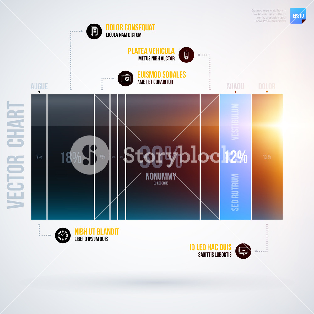 Infographics Chart Template . Eps10