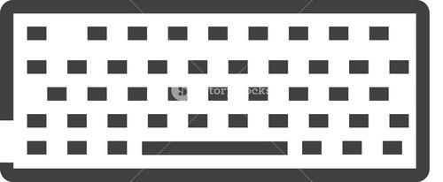 Keyboard Minimal Icon