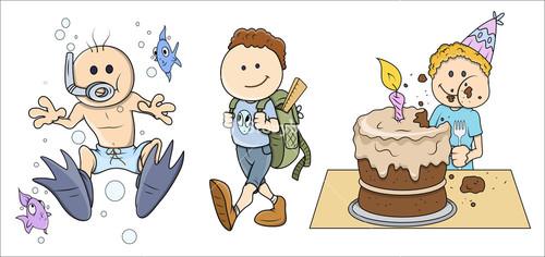 Kids - Vector Illustrations