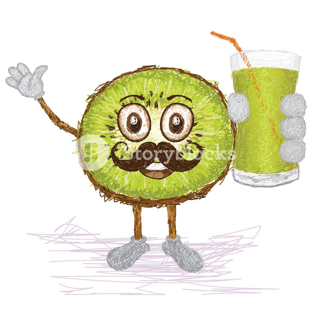 Kiwi Fruit Mustache
