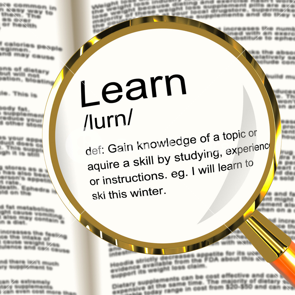 Learn Definition Magnifier Showing Knowledge Gained And Study