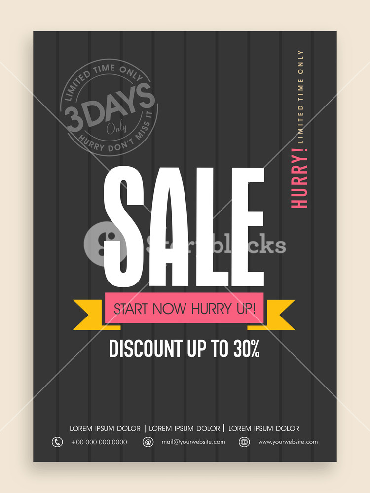 Limited time sale flyer banner or template design with discount offer.