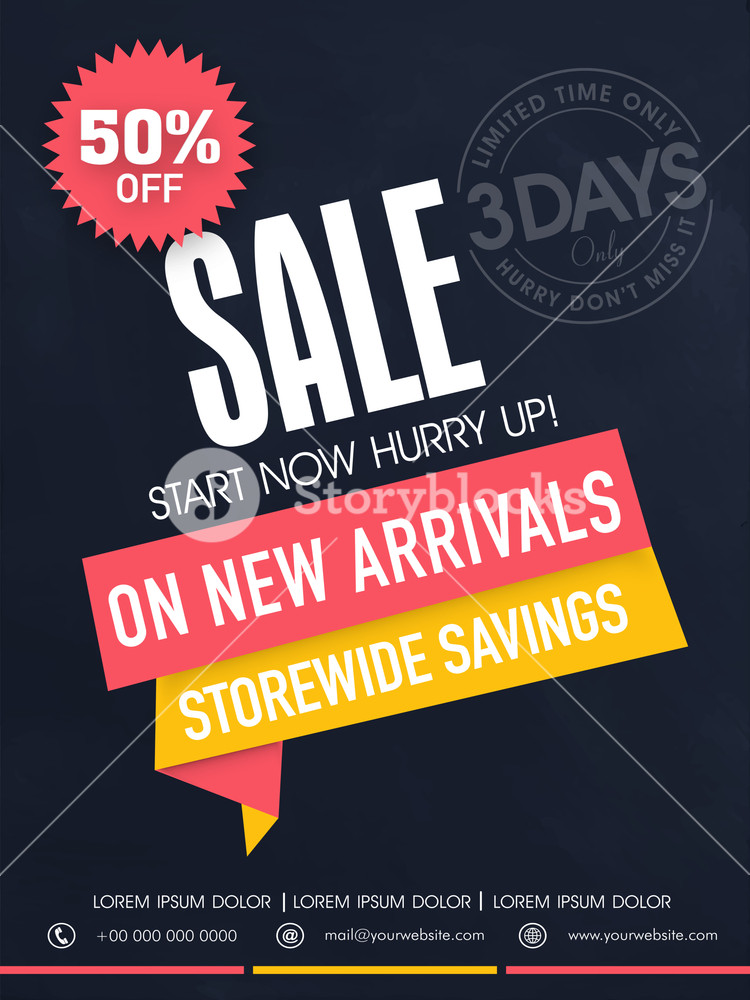 Limited time sale flyer banner or template with best savings and discount offer.
