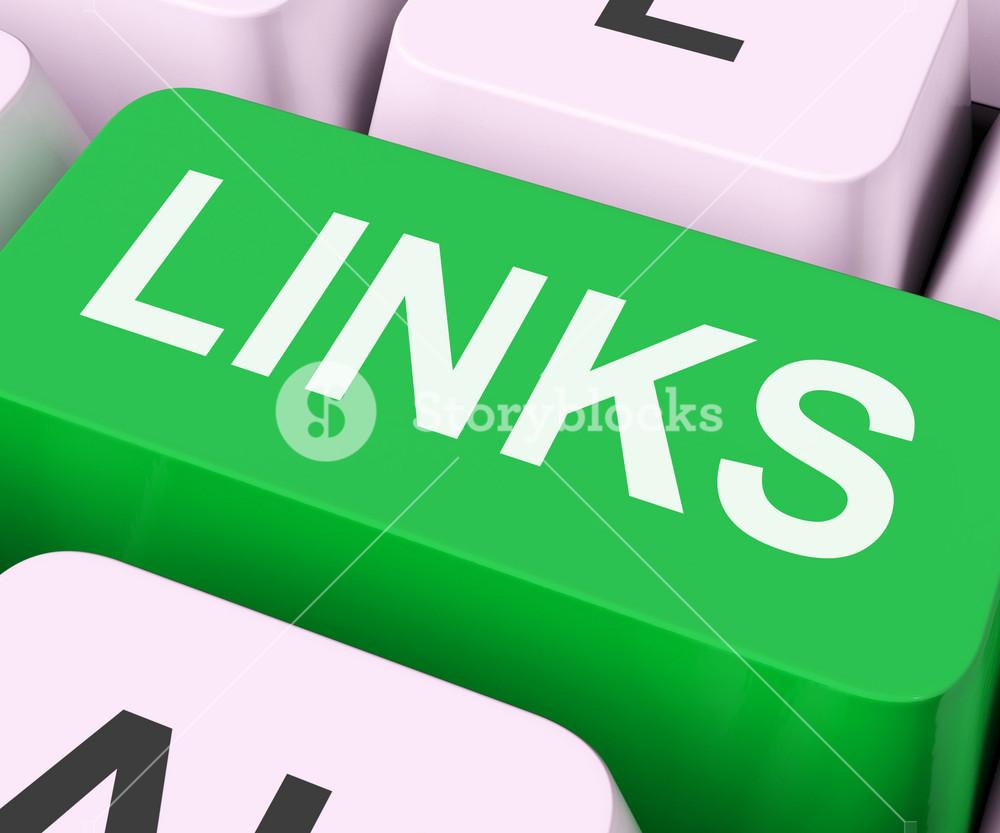 Links Key Shows Backinks Linking And Seo