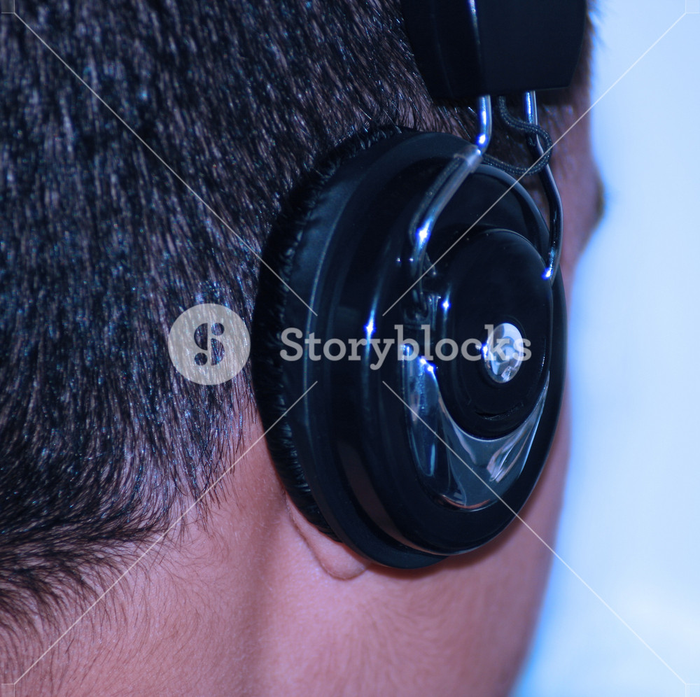 Listening To Music On The Headphone
