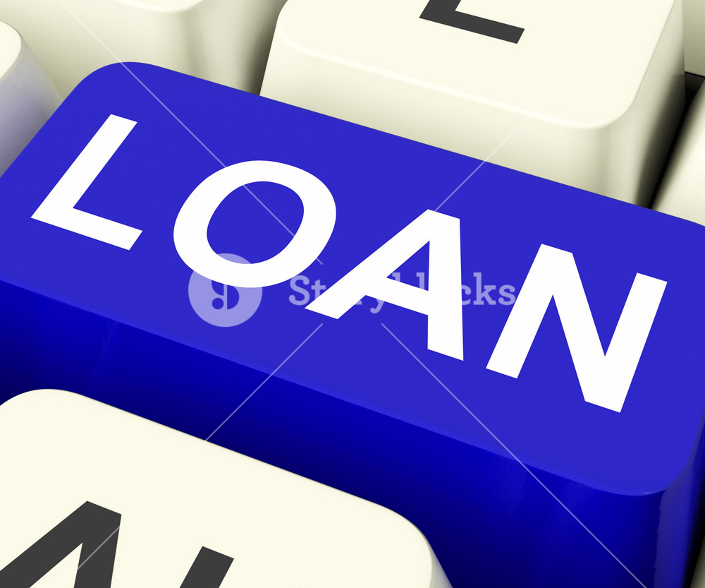 Loan Key Means Lending Or Loaning