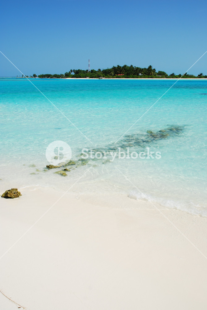 Maldives Island With Gorgeous Turquoise Water