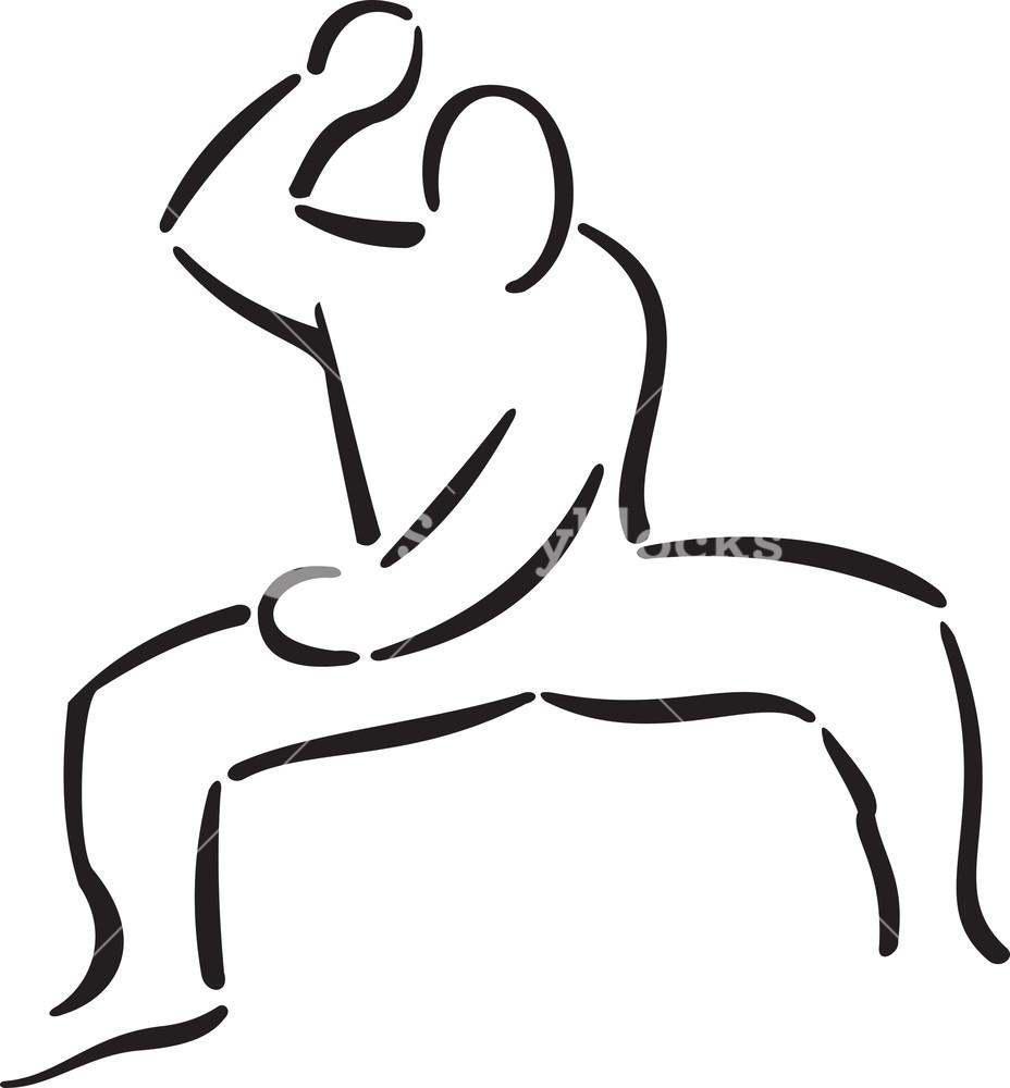 Man Doing Martial Art.