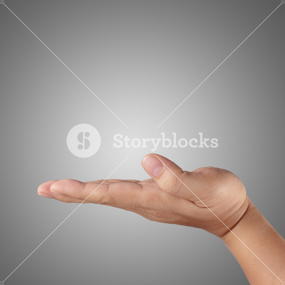Man Hand Holding Isolated