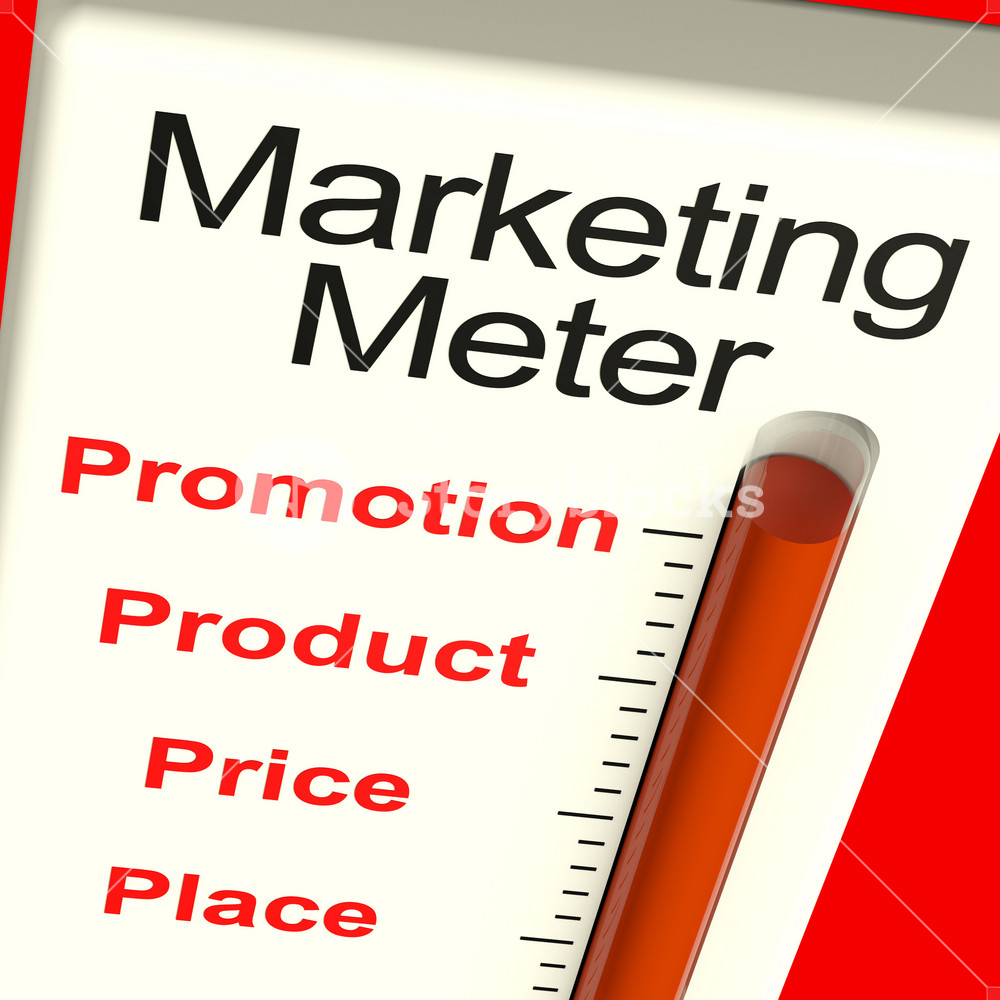 Marketing Meter With Product And Promotion