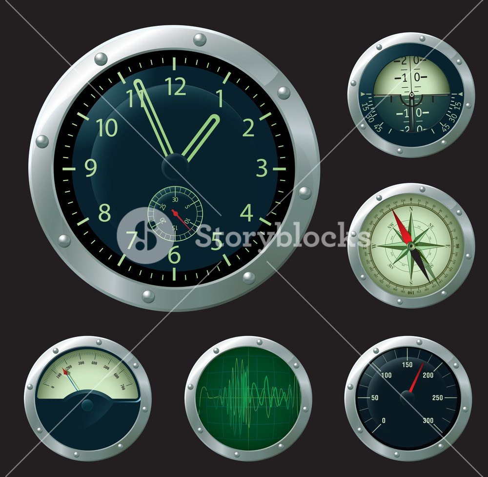 Measuring Devices Scales Vector Set.
