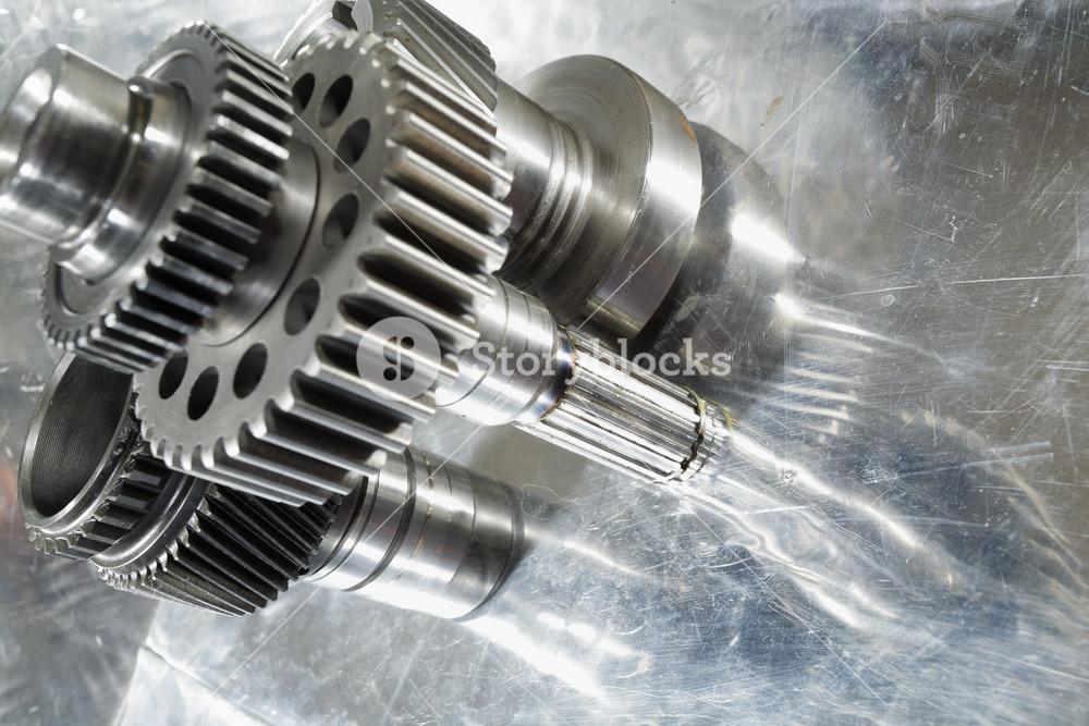 mechanical engineering cogwheels and gears in steel