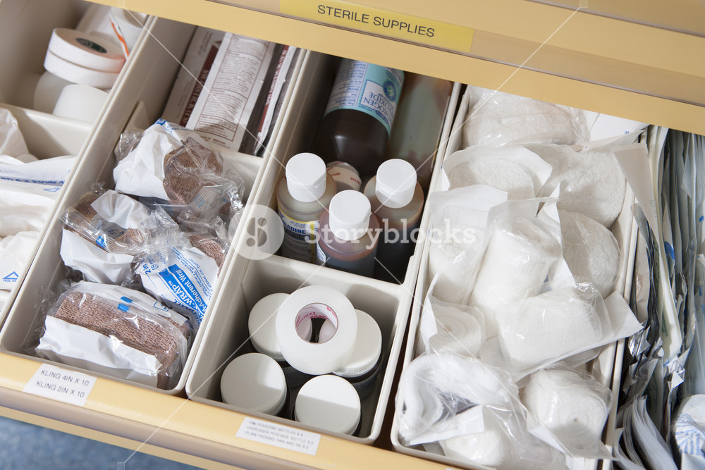 Medical objects in hospital