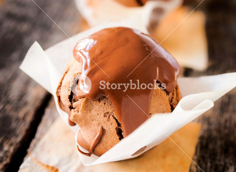 Melting Chocolate On Cake
