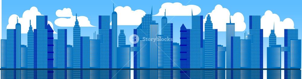 Metropolis Vector Banner.