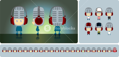 Microphone Character Design