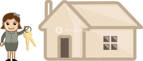 Mortgage - Real Estate Concept - Vector Character Cartoon Illustration