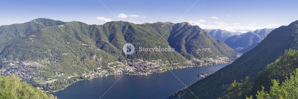 Mountains sheltering a quiet bay and coastal village