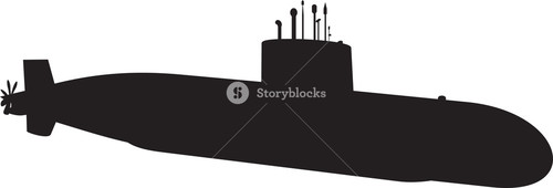 Naval Submarine Silhouette