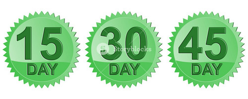 Number Days In Green Seal Icon