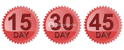 Number Days In Red Seal Icon