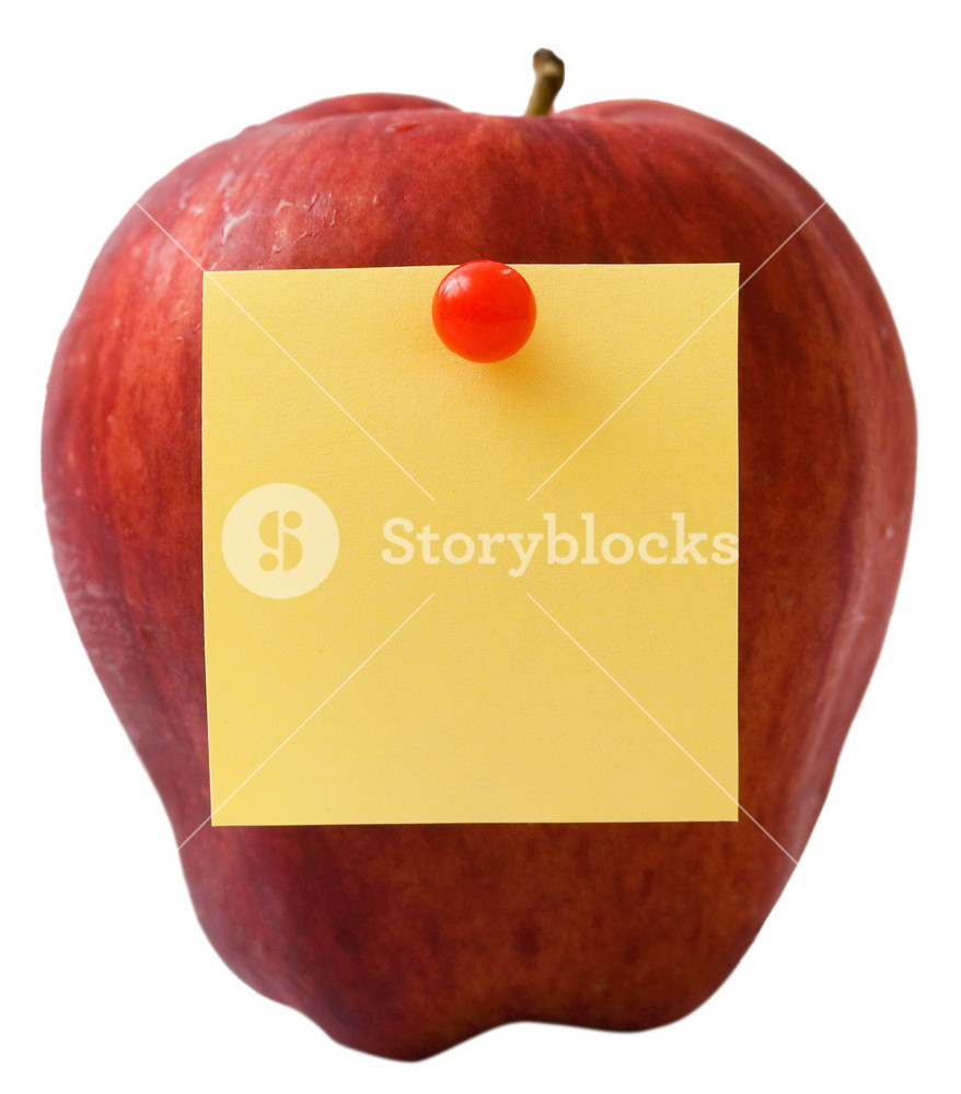 Nutritious Apple With Message