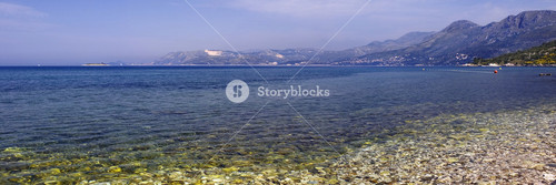 Ocean and the rocky shore