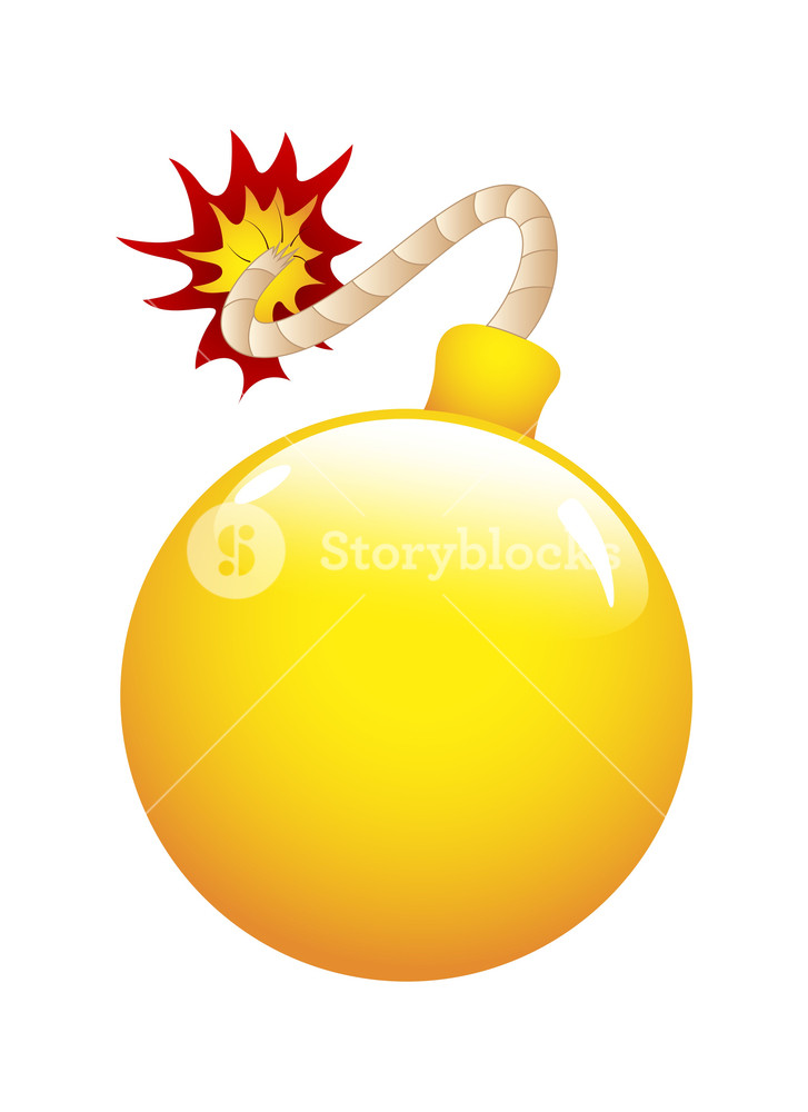 Cartoon Bomb Vector Royalty-Free Stock Image - Storyblocks