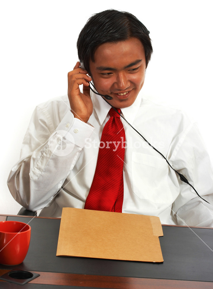 Office Worker Chatting Online