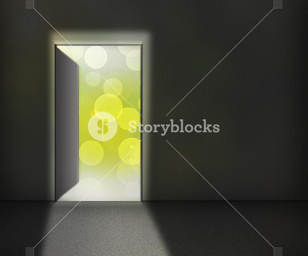 Open Door Background