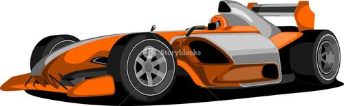 Orange Formula One Car.