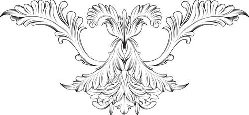 Ornamental Floral Vector
