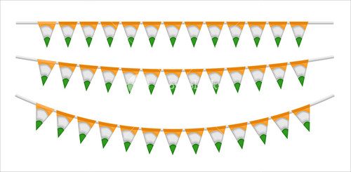 Paper Flags Decorative Festive Elements