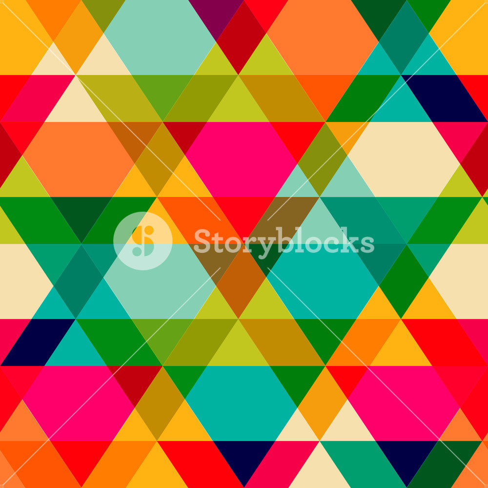 Pattern Of Geometric Shapes. Triangles.texture With Flow Of Spectrum Effect. Geometric Background. Copy That Square To The Side