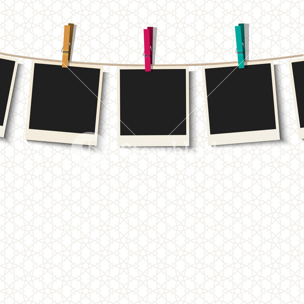 Photo Frames With Clothespins