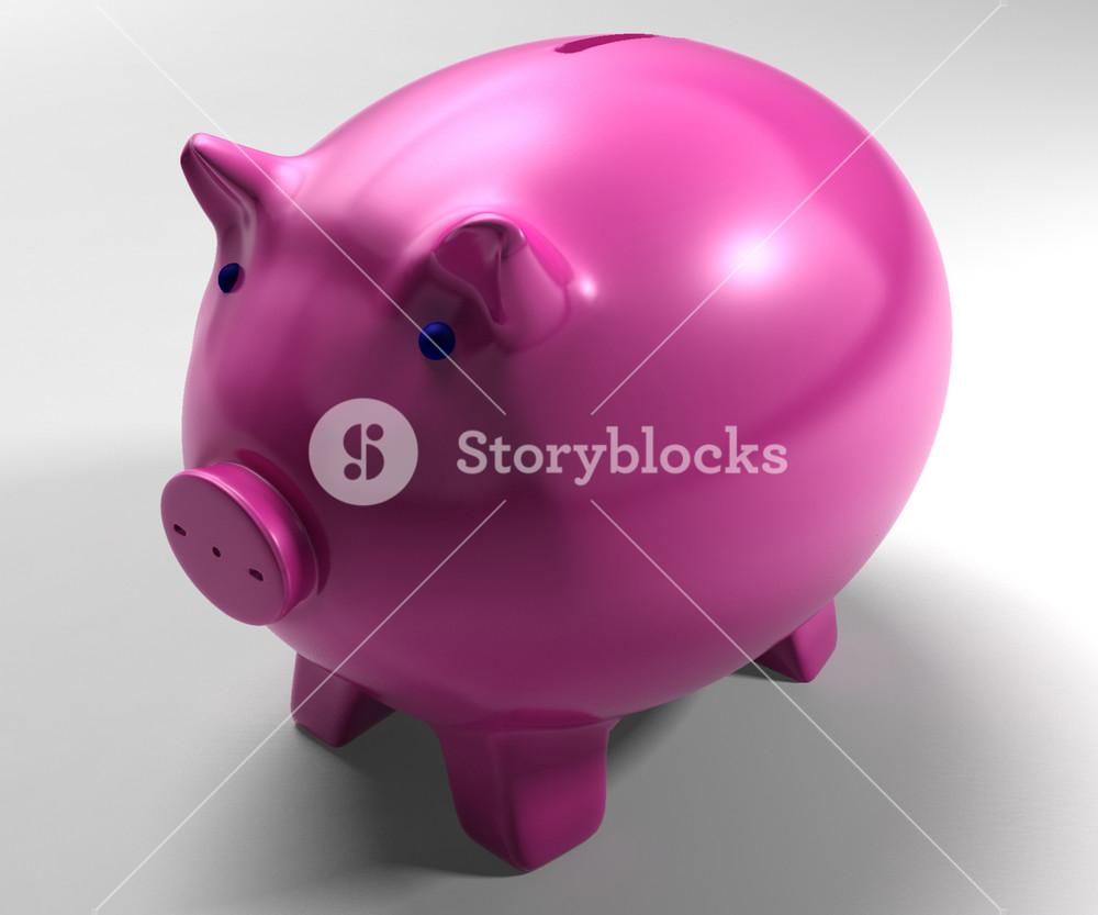 Piggy Bank Shows Savings Accounts