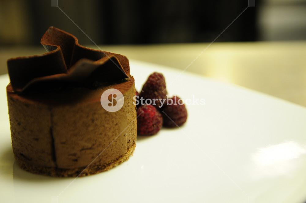 Plated Chocolate Dessert