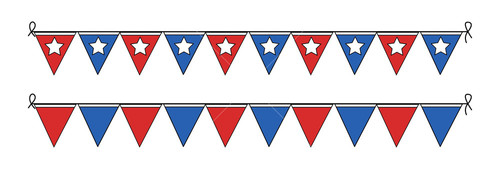 Presidents Day Paper Flag Vector Decoration